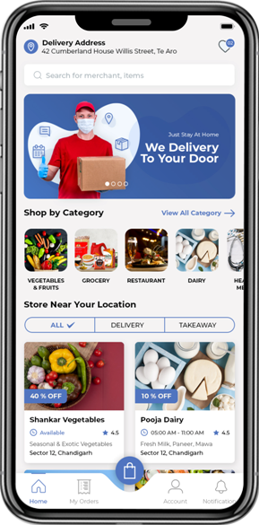 Customer features of nearY- an online supermarket